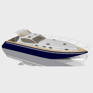 barco cabinado intraborda / casco de planeo / con hard-top / de aluminio