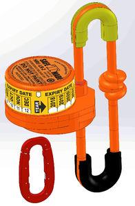 sistema de liberación automático de radiobaliza de socorro