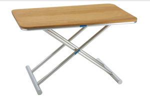mesa auxiliar para barco / ajustable / de teca