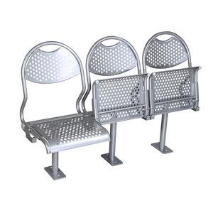 asiento para buque de pasajeros / abatible / de acero inoxidable