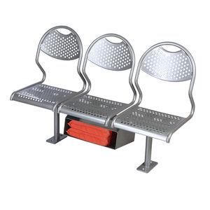 asiento para buque de pasajeros / 3 plazas / de acero inoxidable