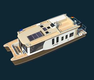 barco casa catamarán / fueraborda / con fly / trawler