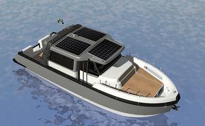 barco cabinado eléctrico de energía solar / híbrido / lobster / 12 personas máx.