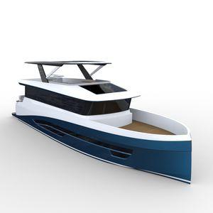 yate a motor de crucero / trawler / con fly / de desplazamiento