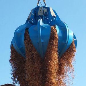 cuchara de descarga electrohidráulica / de 1 garra / para buque granelero