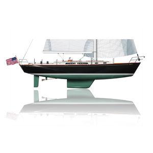 yate de vela de crucero / clásico / con popa abierta / con 3 camarotes