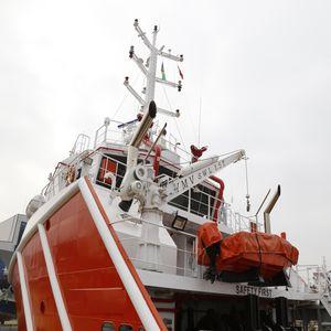 pescante para barco de salvamento / para balsa salvavidas / hidráulico / eléctrico