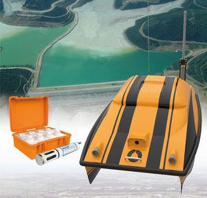 vehículo no tripulado marino para estudios oceanográficos / para mediciones ambientales / para estudios hidrográficos / mini catamarán