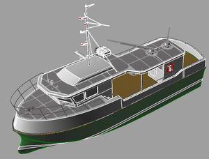 barco profesional arrastrero / intraborda / de aluminio