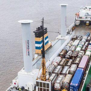 rotor Flettner para buque