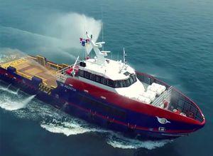 buque de servicio offshore de suministros / de transporte de tripulación