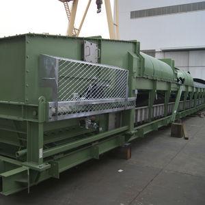 cargador descargador de buque cinta transportadora