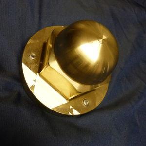 ánodo de protección para barco / de latón / para eje de hélice / para perno de acero con cabeza hexagonal