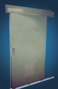 puerta para buque / corredera / doble / de aluminio