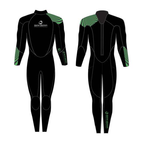 traje húmedo de deporte náutico / integral / de manga larga / 3 mm