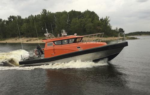 barco profesional embarcación de servicio / intraborda / de aluminio