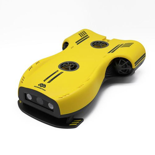 drone marino subacuático para fotografía / conectado por cable