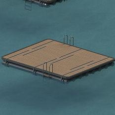 plataforma para puerto deportivo / para casa flotante / flotante / a medida