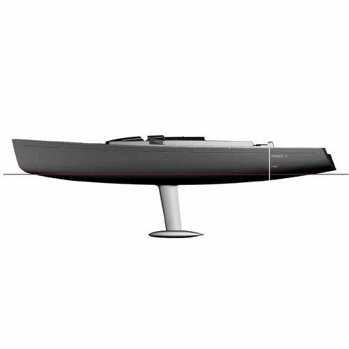monocasco / de crucero / con popa abierta / con doble rueda de timón