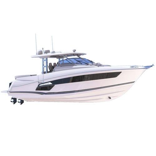 barco cabinado fueraborda / bimotor / open / de crucero
