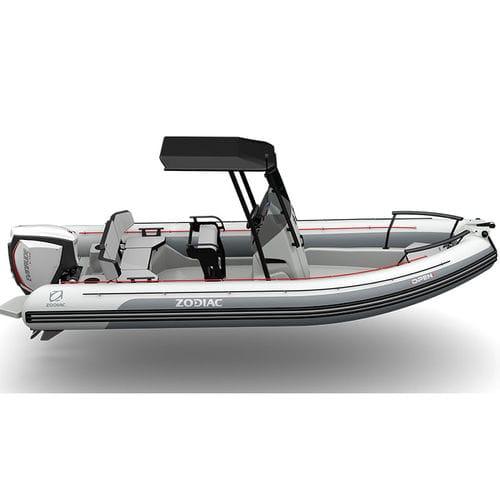 embarcación neumática fueraborda / semirrígida / con consola central / para la pesca