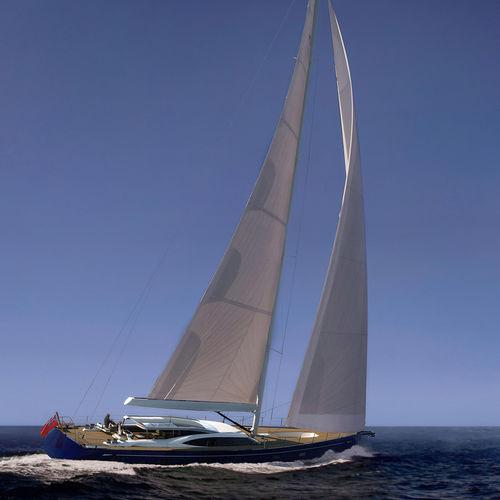 superyate de vela de lujo de crucero / con deck saloon / con 6 camarotes / sloop