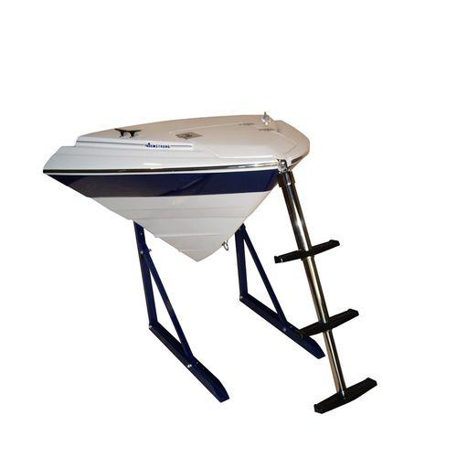 escalera para barco / telescópica / abatible / de baño