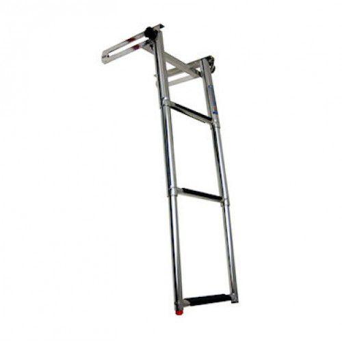 escalera de baño / para barco / ajustable / manual