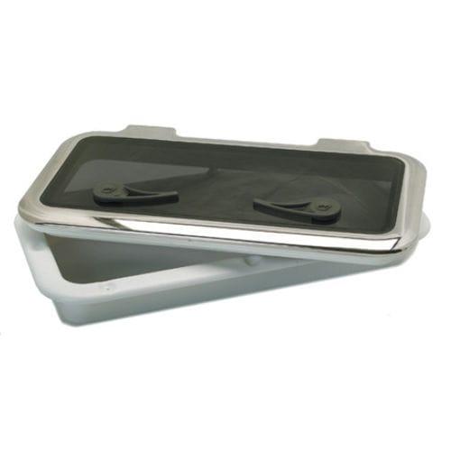 escotilla para barco / rectangular / abrible / con bordes redondeados