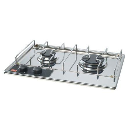 placa de cocina a gas / para barco / 2 quemadores / empotrable