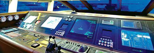 panel de mando para barco