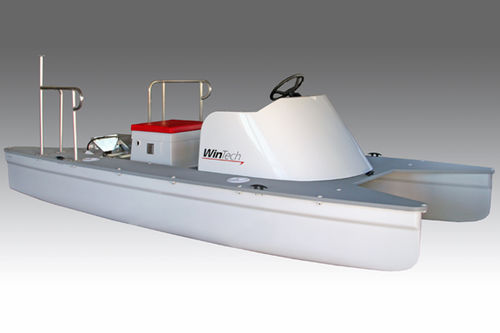 barco open catamarán / fueraborda / con 2 plazas