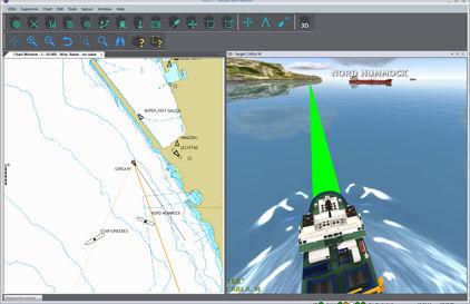 software de navegación 3D / para buque