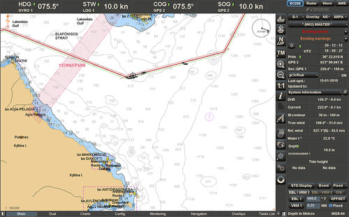 carta náutica digital