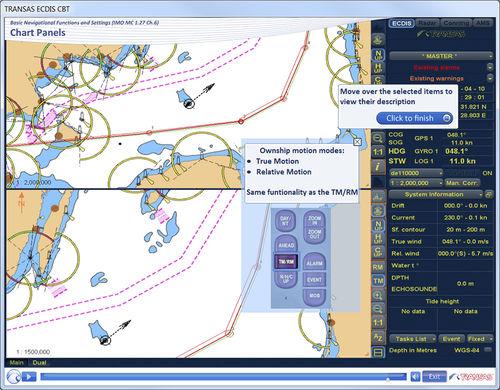 software de formación ECDIS