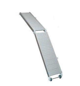 pasarela para barco / plegable / manual / de aluminio