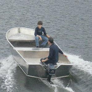 bote fueraborda / open / de pesca deportiva / de aluminio