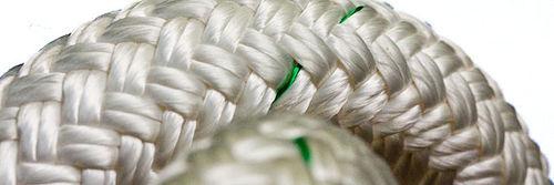 cuerda de amarre / dobles trenzadas / para buque / alma de poliamida