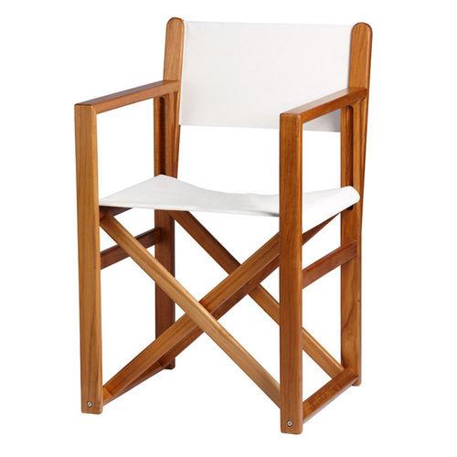 silla tipo director de cine para barco / plegable / de teca