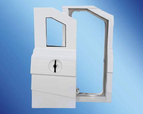 puerta para barco / para yate / deslizante integrada