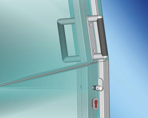 puerta para barco / para yate / corredera / de acero inoxidable