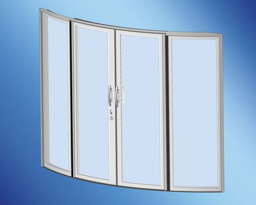 puerta para barco / para yate / corredera / con paneles de vidrio