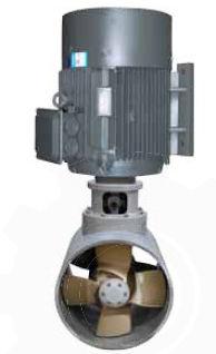 propulsor de proa / para buque / eléctrico / de túnel