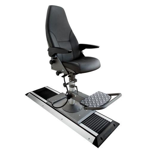 asiento piloto / para barco / con reposabrazos / respaldo alto