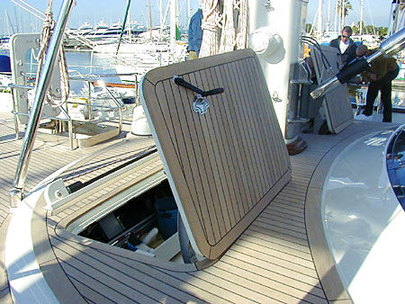 escotilla rectangular / para yate / abrible