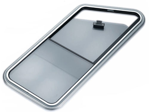 ventana para barco / abrible / rectangular / de vidrio