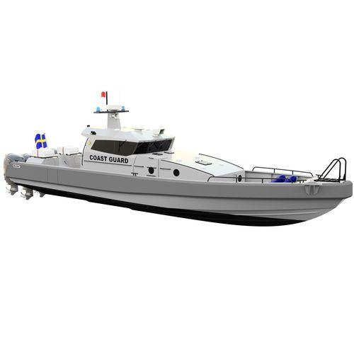 barco de vigilancia / fueraborda / diésel / de aluminio