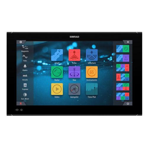 pantalla para barco / sistema de navegación / para sónar / táctil