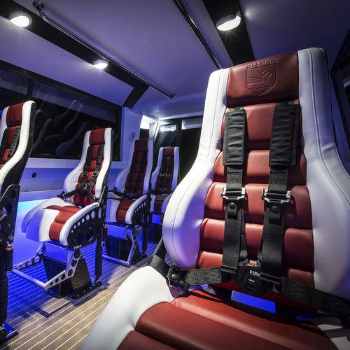 asiento semisentado / envolvente / piloto / para barco