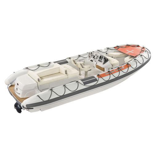 barco profesional barco de salvamento / hidrojet intraborda / diésel / embarcación neumática semirrígida
